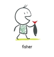 Fisherman vector image vector image