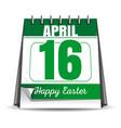 easter calendar catholic easter 2017 vector image