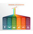 template infographic for 6 options vector image