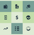 set of simple investment icons elements circle vector image