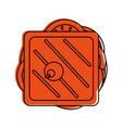 Sandwich topview food icon image vector image