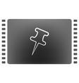 push pin icon vector image