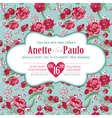 Wedding Vintage Invitation Card Floral Pattern vector image