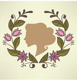 floral beauty background vector image
