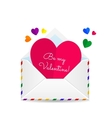 Valentines lgbt card vector image vector image