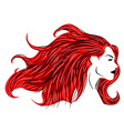 Red hair woman vector image