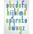 Thin bright animated font rounded lowercase vector image