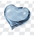 Big transparent heart vector image vector image