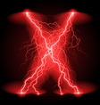 Crosswise lightning lines vector image vector image