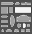 Different flat design borders Ready for a text vector image vector image