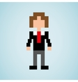 avatar person pixel design vector image