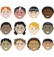 boys faces vector image