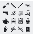 Criminal and prison icons vector image