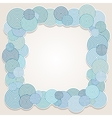 Frame of circles vector image