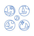 icons pictograms seascape vector image