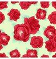 Red rose seamless pattern outline vector image