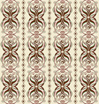 Seamless abstract pattern of wavy ornament vector image