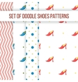 Set of four seamless patterns with women s vector image