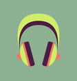 technology gadget in flat design headphones vector image
