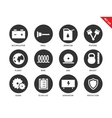 Tools icons on white background vector image