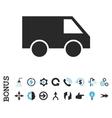 Van Flat Icon With Bonus vector image