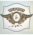 wild west cowboy element emblem vector image