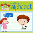 Flashcard letter C is for chin vector image