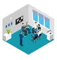 Personnel Training Isometric Concept vector image