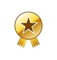 Luxury golden premium quality best choice labels vector image
