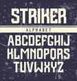Sans serif font in the sport style vector image