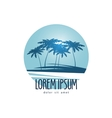 Palm trees logo design template tropical island vector image