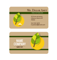 Modern business card template with nature vector image vector image