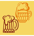 monochrome icon set with mug beer vector image