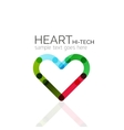 Logo love heart abstract linear geometric vector image