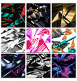 abstract polygonal background seamless pattern vector image