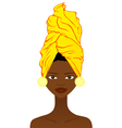 Beautiful African woman with traditional headgear vector image