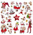 Christmas theme cartoons vector image