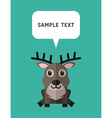 Cute Deer In Flat Design Style With Speach Bubble vector image