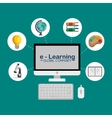 e-learning global community vector image