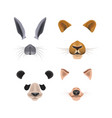 video chat effects with animal faces vector image