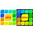 Multicolored template of a calendar vector image vector image