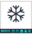 Snowflake icon flat vector image