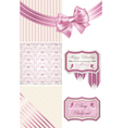 Vintage birthday Pattern frames and cute seamless vector image