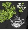 Tea vintage background Hand drawn sketch vector image vector image
