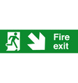 Fire Exit Safety Sign vector image vector image