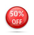 50 percent off sign or symbol vector image