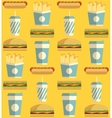 Fast Food icon pattern vector image