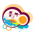 tropical simbolAbstract image with grunge elements vector image vector image