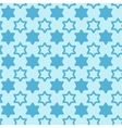 David star seamless pattern background vector image