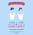 Gay wedding invitation vector image